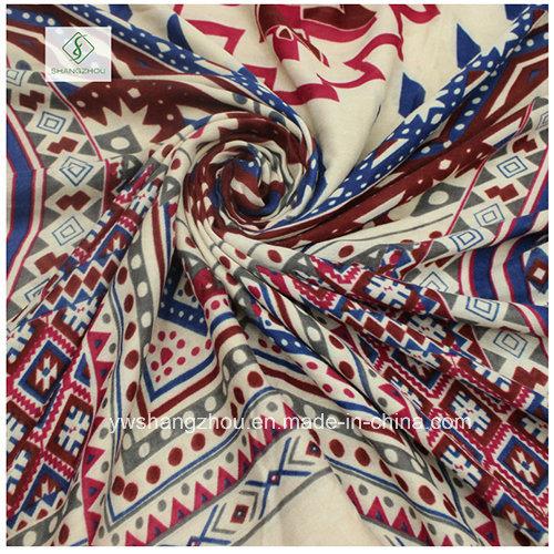 Fashion National Style Printed Satin Lady Scarf