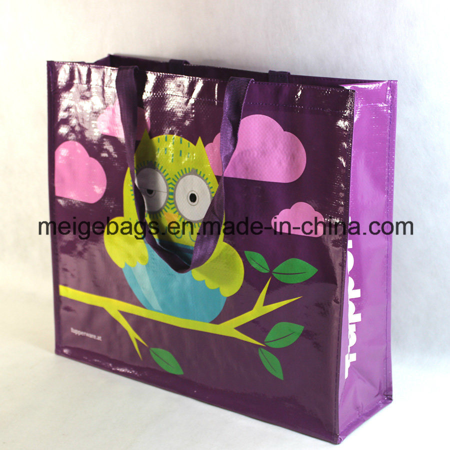 PP Woven Laminated Tote Shopping Bag, with Fashion Design