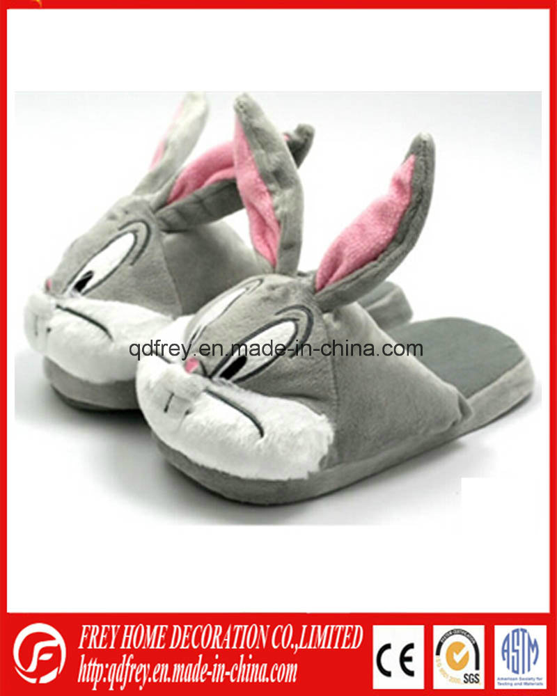 Hot Design Plush Goat Toy Warmer Slipper