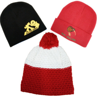 Wholesale Cheap Custom Baby Kids Slouchy Embroidered Knitted Winter Warm Cap Hats Beanie for Men