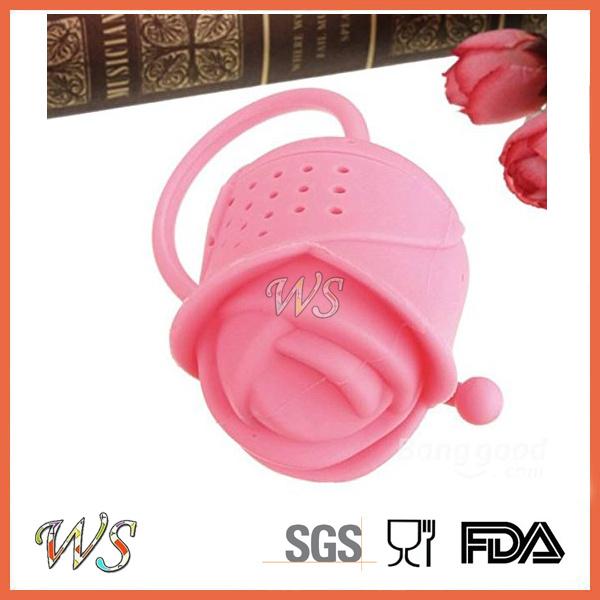 Ws-If063 Food Grade Silicone Rose Tea Infuser Leaf Strainer for Mug Cup, Tea Pot
