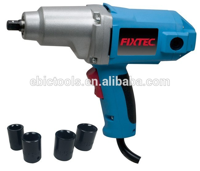 Fixtec Power Tool Electric 900W Hardware Hand Impact Wrench Machine Tool