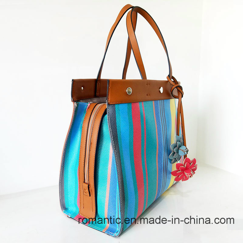Fancy Colorful Elegant Lady PU Leather Handbags (NMDK-032206)