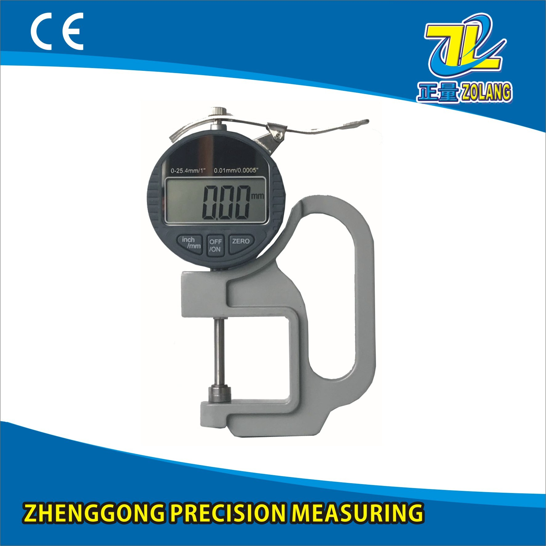 0-25.4/0.01mm Digital Thickness Gauge