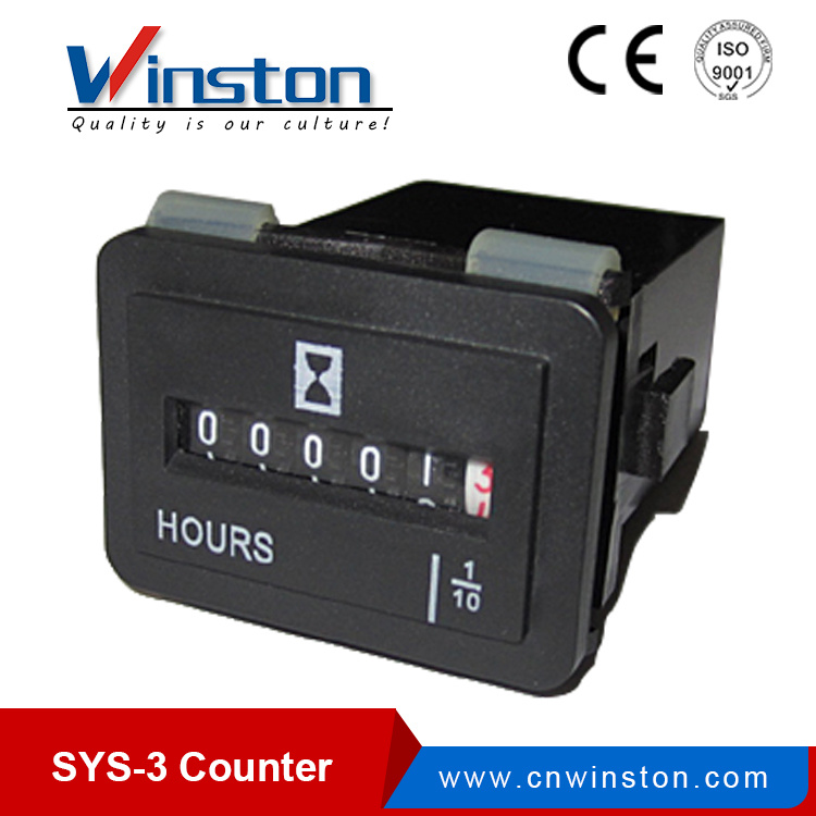 Sys-3 AC 100-250V 0.3W Digit Digital Counter Meter