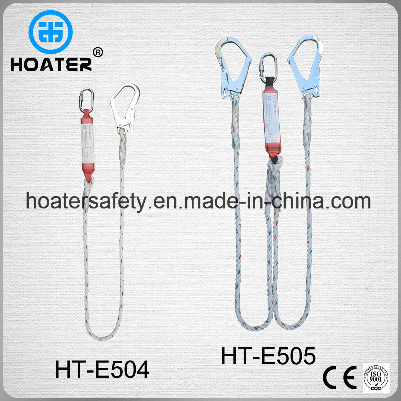 100% Polyester Construction Energy Absorber Safety Rope for Harness