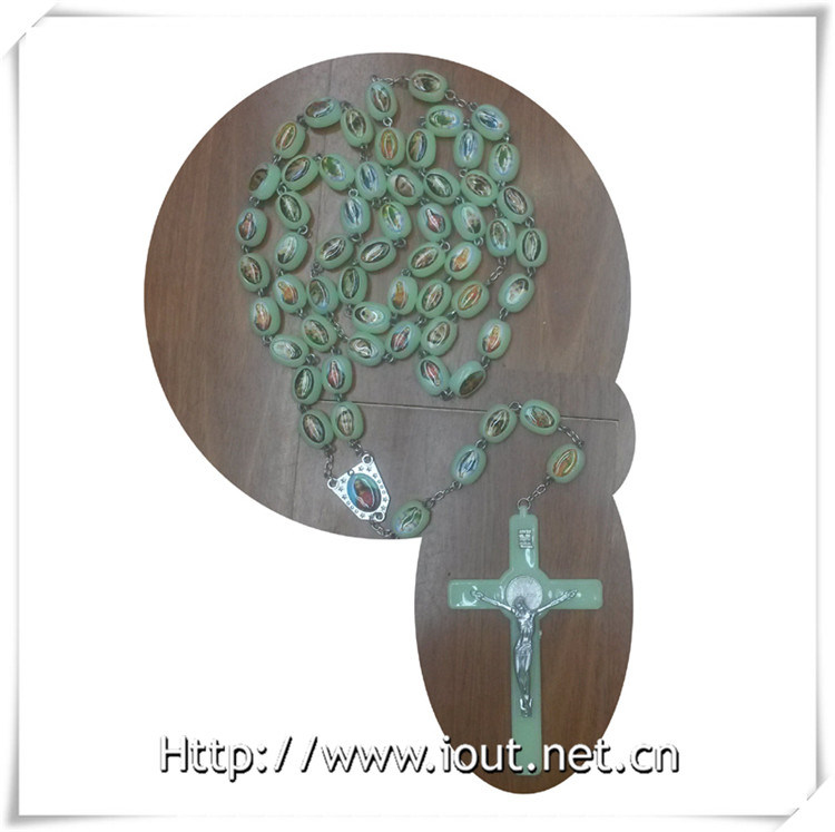 Luminous Beads Catholic Rosary, Luminous Religious Rosary, Plastic Necklace (IO-cr355)