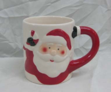 Factory Direct Ceramic Christmas Mug with Santa Design Hot Sale