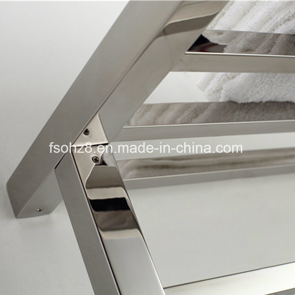 Stainless Steel Towel Ladder Bathroom Radiator in Square Design
