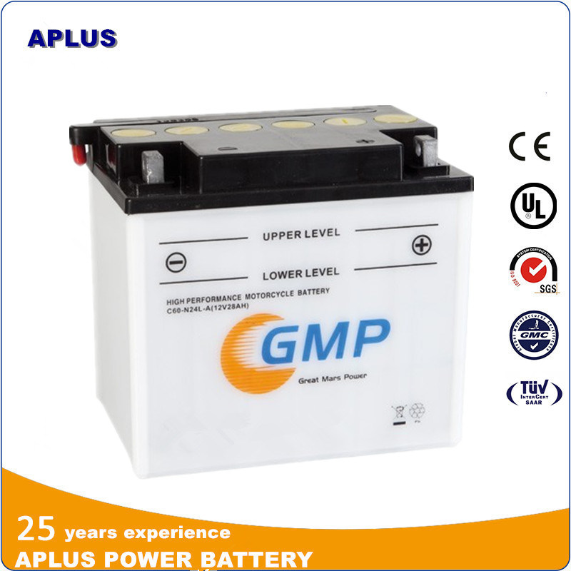 Top Rank 12V 28ah Starting Flooded Rechargeable Battery for Motorcycle