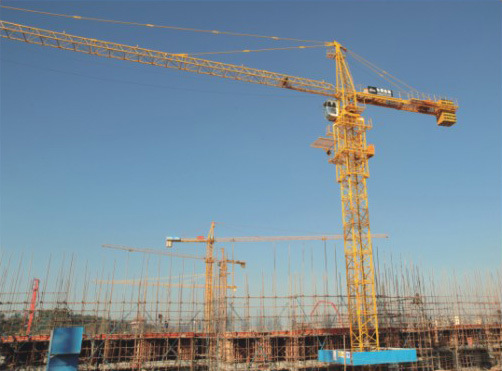 Qtz80 (TC6510) 6t Self-Lifting Building Hoist Tower Crane