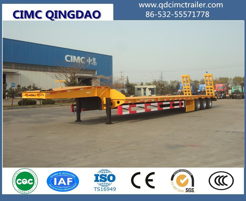 3 Axle Low Bed Excavator Transport Trailer