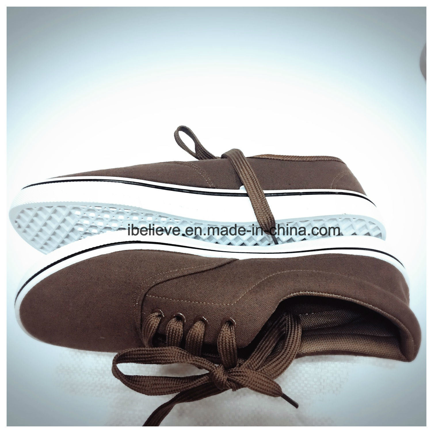 Dark Brown Color Flat Working Footwear