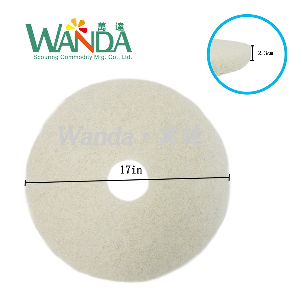 White Floor Polishing Pad Floor Buffing Pad for Spray Cleaning