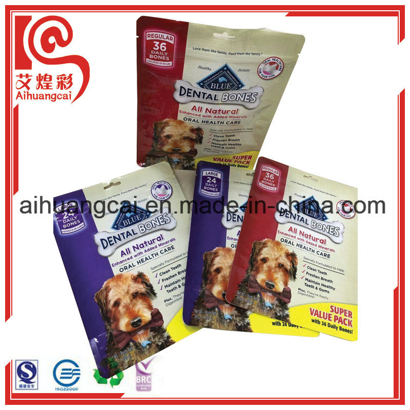 Customized Four Side Seal Plastic Food Bag with Window
