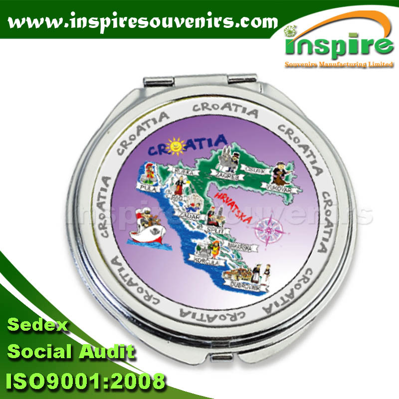 Round Foil Mirror for Souvenir Collection