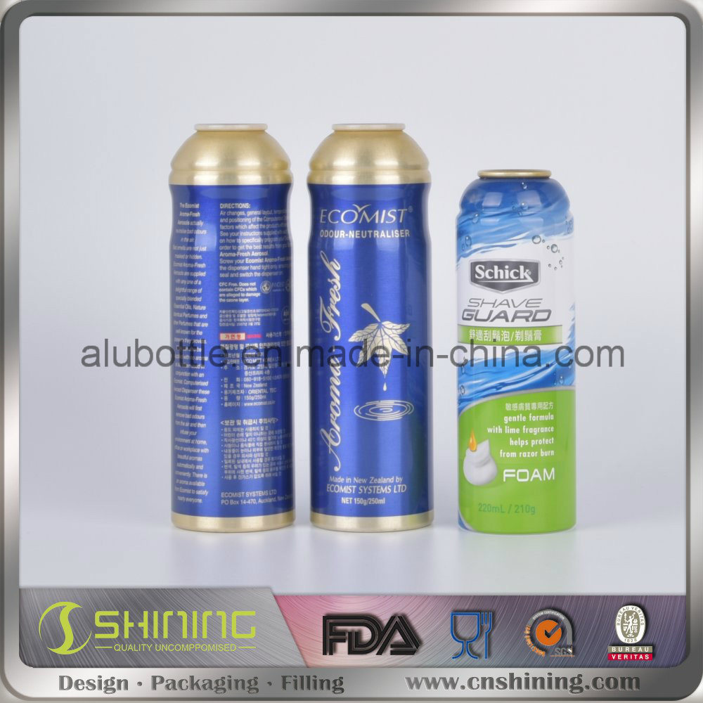 Aluminum Aerosol Spray Can for Medicine