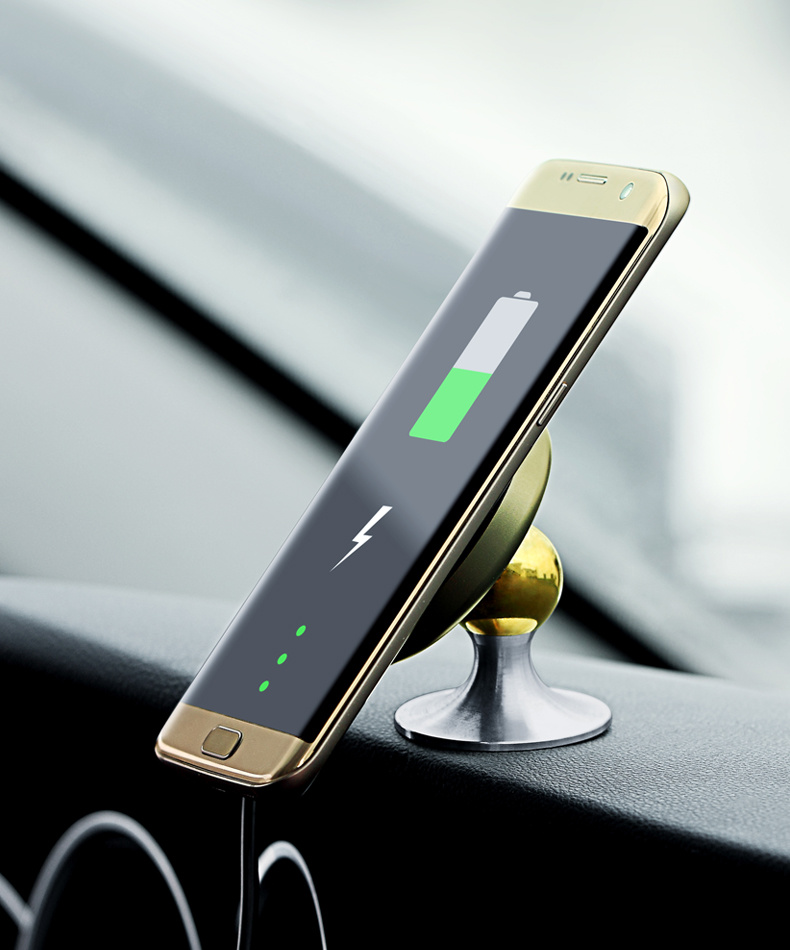 Qi Fast Charging Stand Charger Holder Car Mounted Wireless Charger for iPhone 8/8plus/X/Galaxy S6/7/8