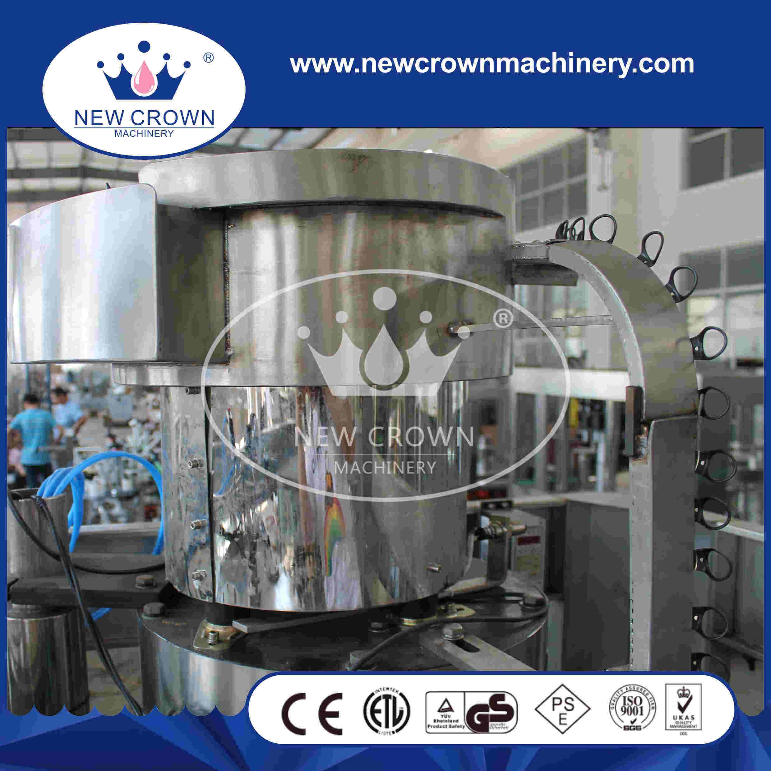 Automatic 3 in 1 Glass Bottled Beer Filling Machine