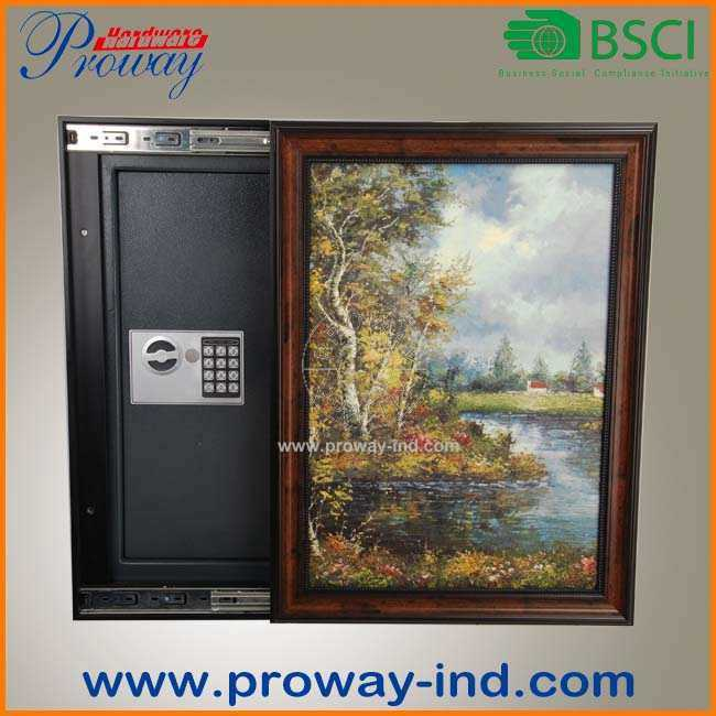 Digital Electronic Concealed in Wall Safe High Security with Picture Frame Adjustable Depth