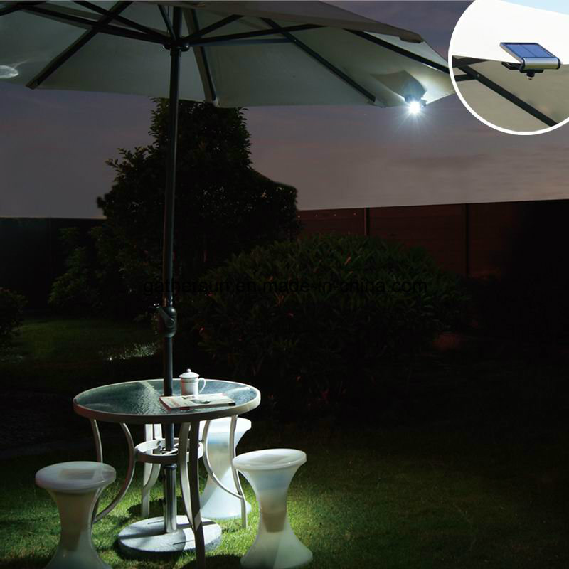 Portable Solar LED Light with Magnet for Fence Umbrella Backpack Lamp