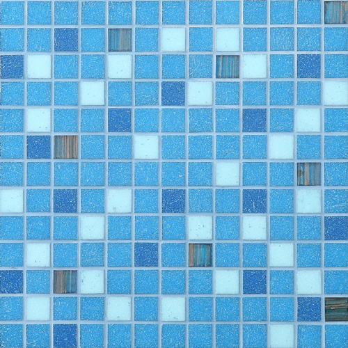 Building Material Mosaic Tiles Blue Glass Mosaic for Swimming Pool