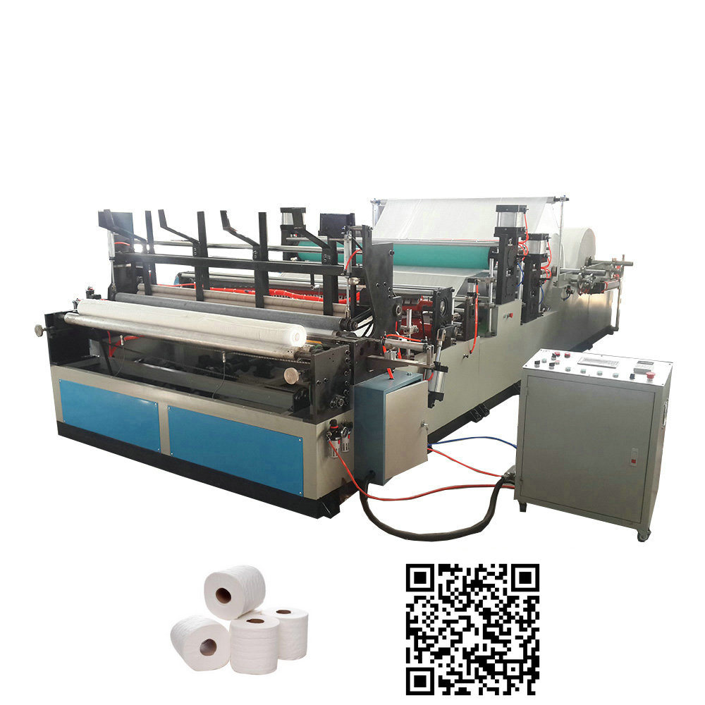 Full Automatic Rewinding and Perforating Small Toilet Paper Roll Making Machine Price