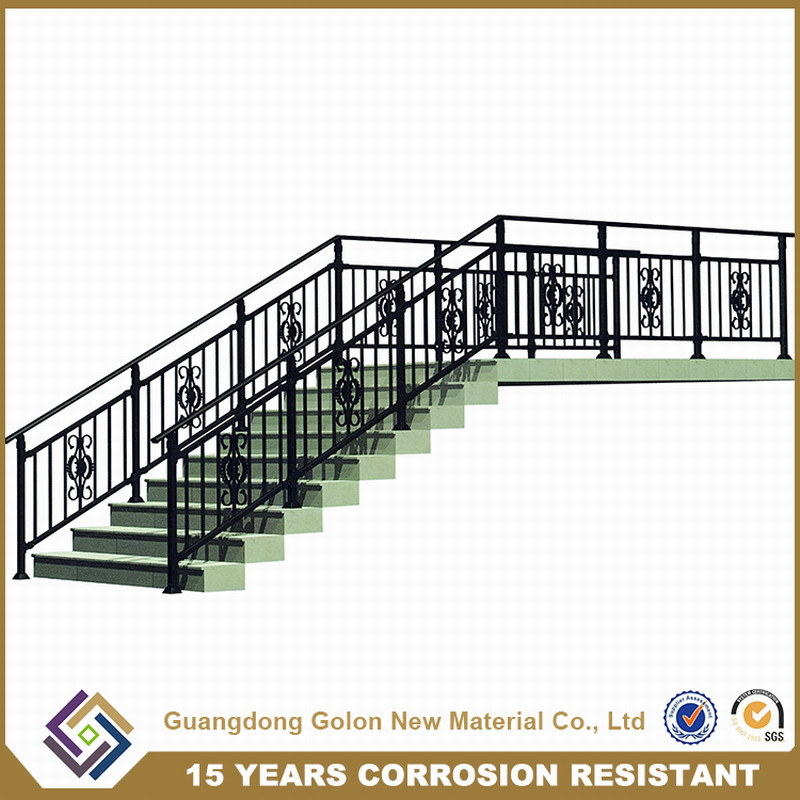 Assembled Corrosion Resistant Outdoor Iron Aluminium Staircase Railing Stair Handrail