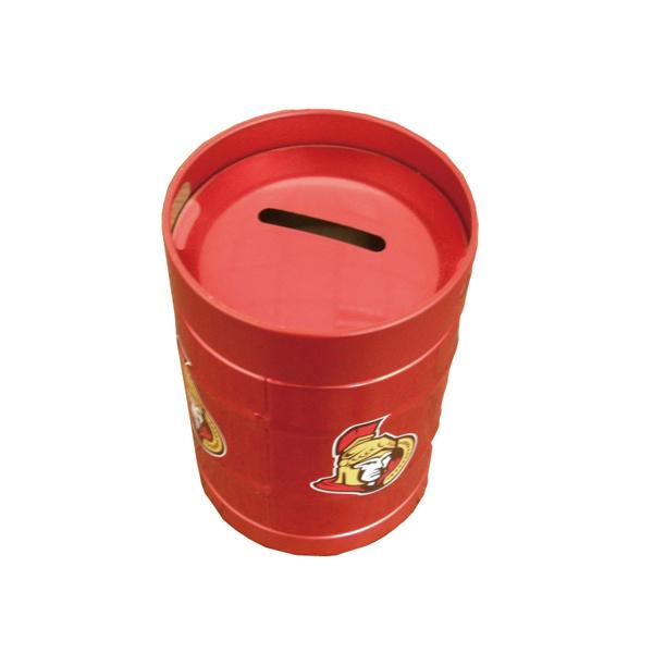 Round Tin Container Cheap Piggy Bank Tin Contanier