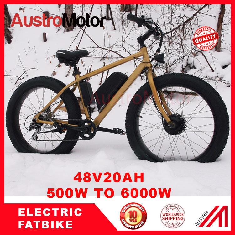 Fat Electric Bike Bicycle, E Bike with High Power 3000W 6000W Fat Bike Ebike