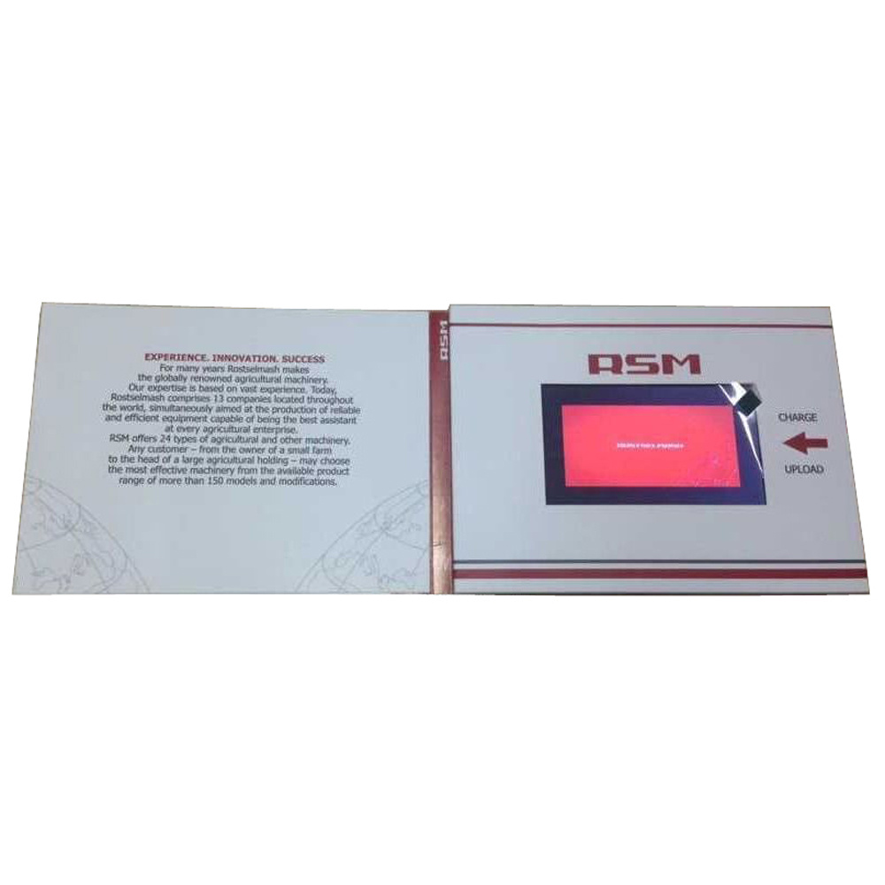 5inch LCD Screen Custom Printing Video Brochure
