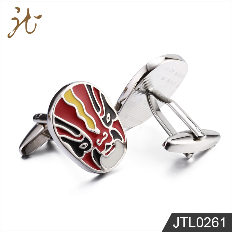 Fashion Nice Quality Mask Design Cuff Links for Promotion