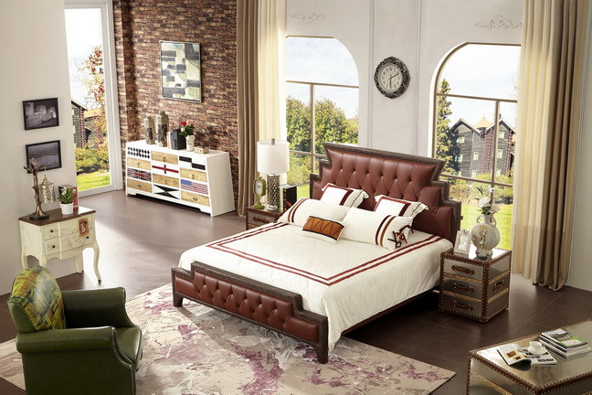 High Quality Soft Leather Bed of Home Furniture (Jbl2016)