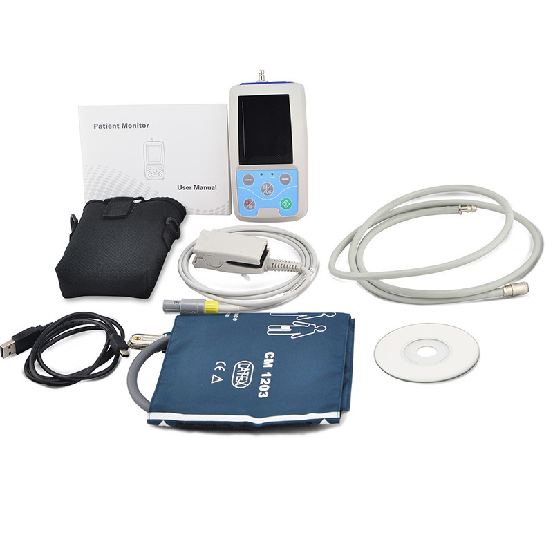 Color LCD 24-Hour Abpm Holter+SpO2 (RM-ABPM3) -Fanny