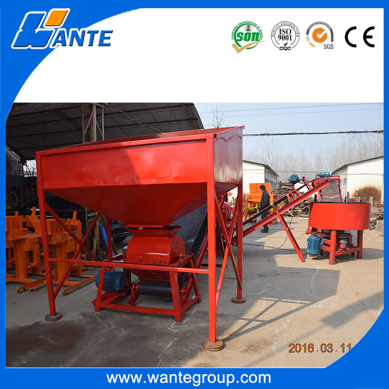 Wt1-25 Interlocking Block Making Machines with Soil Crusher, Eco Maquinas Tijolos Brick Machine