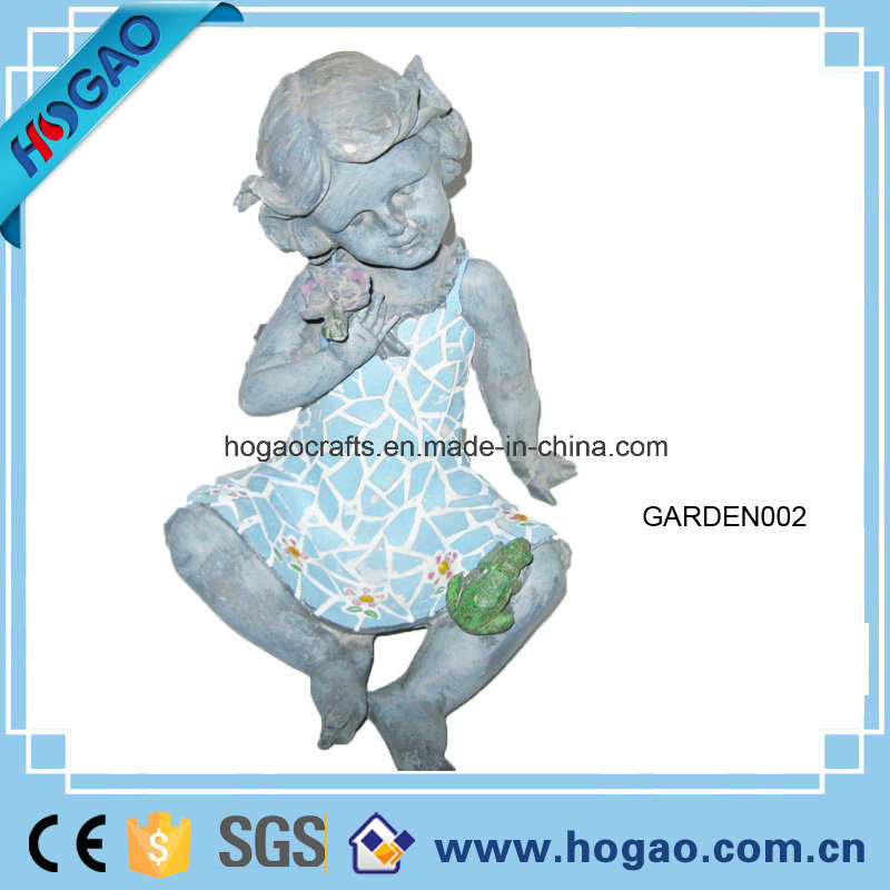 Polyresin Garden Decoration Girl Statue