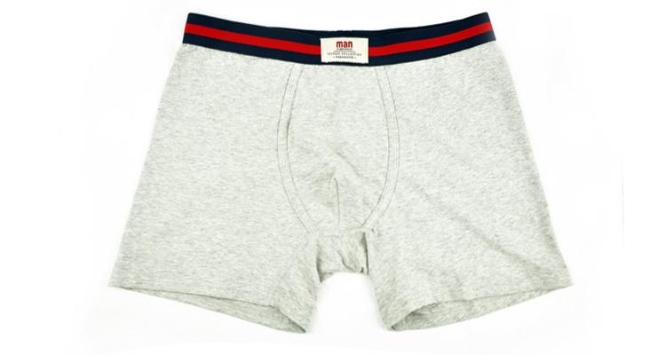 100% Cotton Underwear Boxer Brief Men 248-White