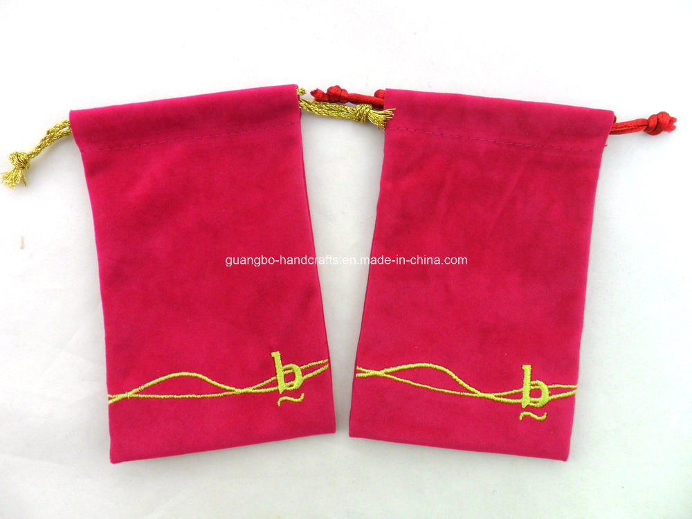 Custom Jewelry Mobile Phone Organza Velvet Small Drawstring Pouches Bag