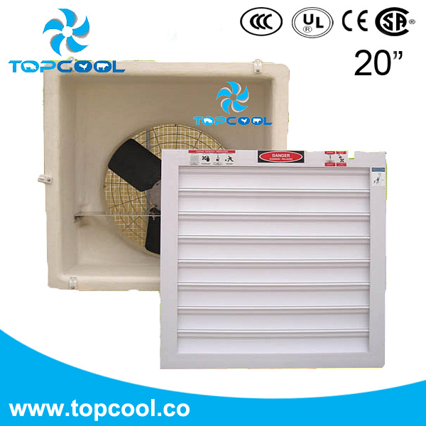 """20"""" FRP Exhaust Fan with PVC Shutter for Livestock with Amca Test Report"""