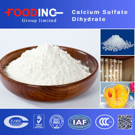 Food Grade Calcium Sulfate Dihydrate Made in China (CAS No.: : 7778-18-9)