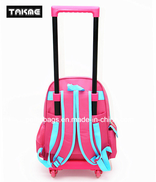 Cartoon EVA Printing Trolley Backpack School Bag for Children