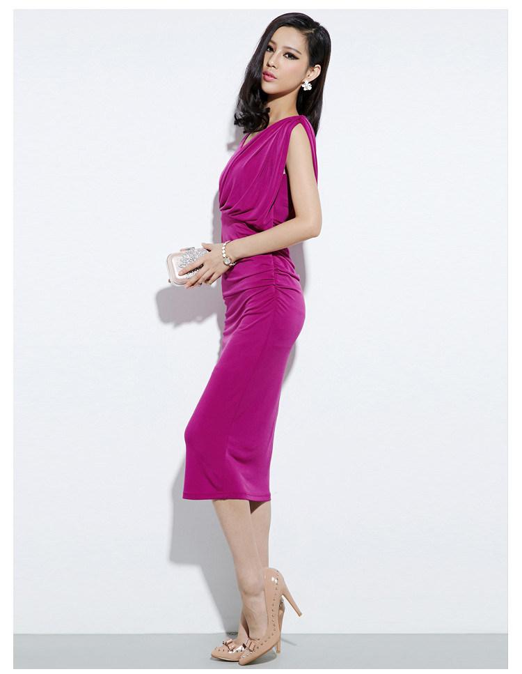 2016 Newest Fashion Rose Color Party Women Dress