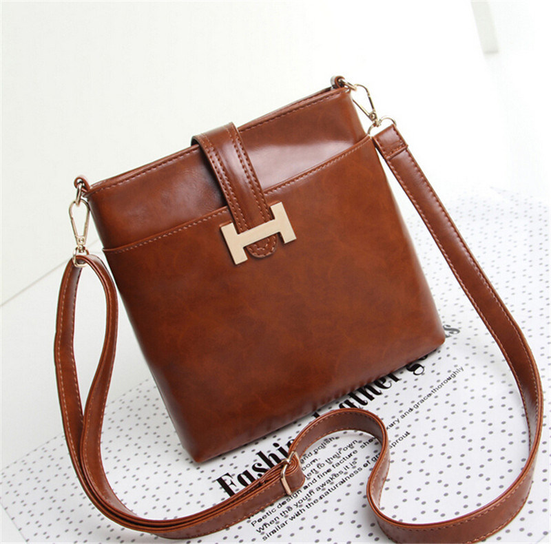 Fashion Designer Simple Leisure PU Leather Handbag for Lady