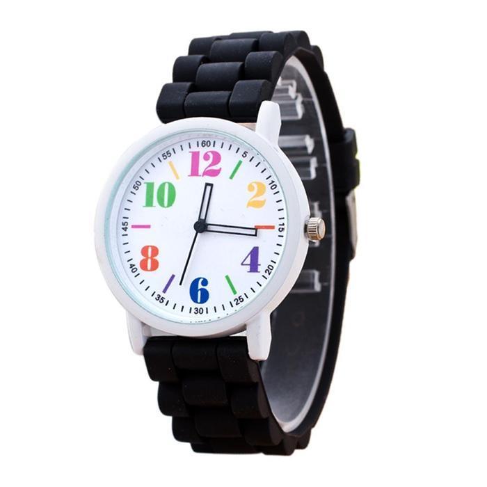 Hot Sale Women Casual Watch Silicone Wristwatch Girls Women Men Watch