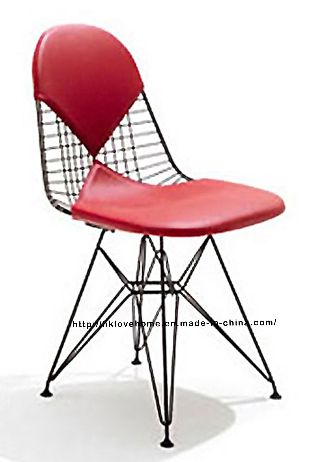 Modern Metal Restaurant Knock Down Wire Eames Side Chair