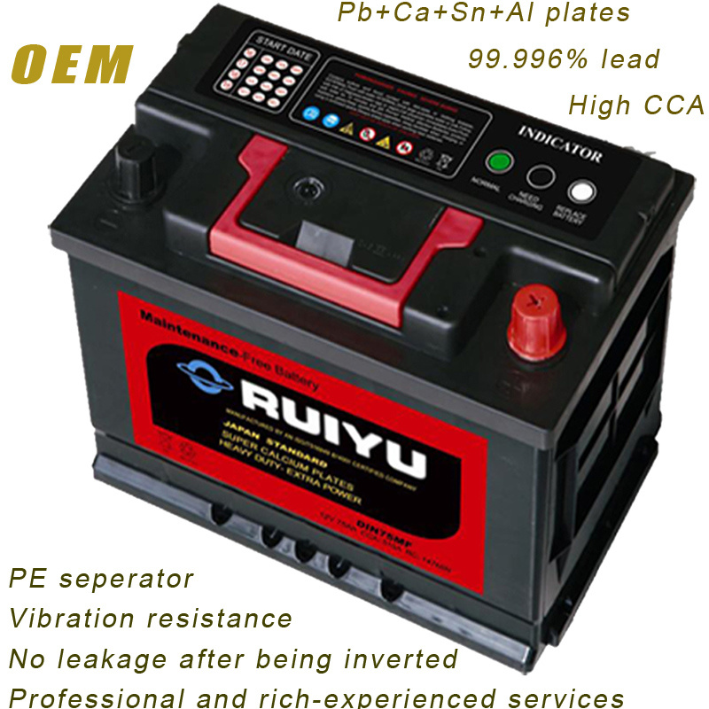 DIN75 12V 75ah Sealed Mf Lead Acid Auto Car Battery