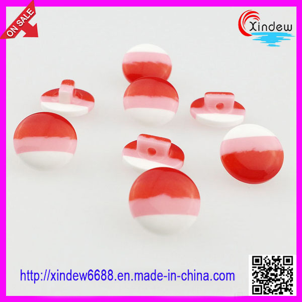 Girls Plastic Fashion Dress Shank Button (XDJZ-179)