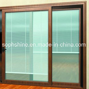 Motorized Alumnium Shutter Between Double Hollow Glass for Shading/Partition