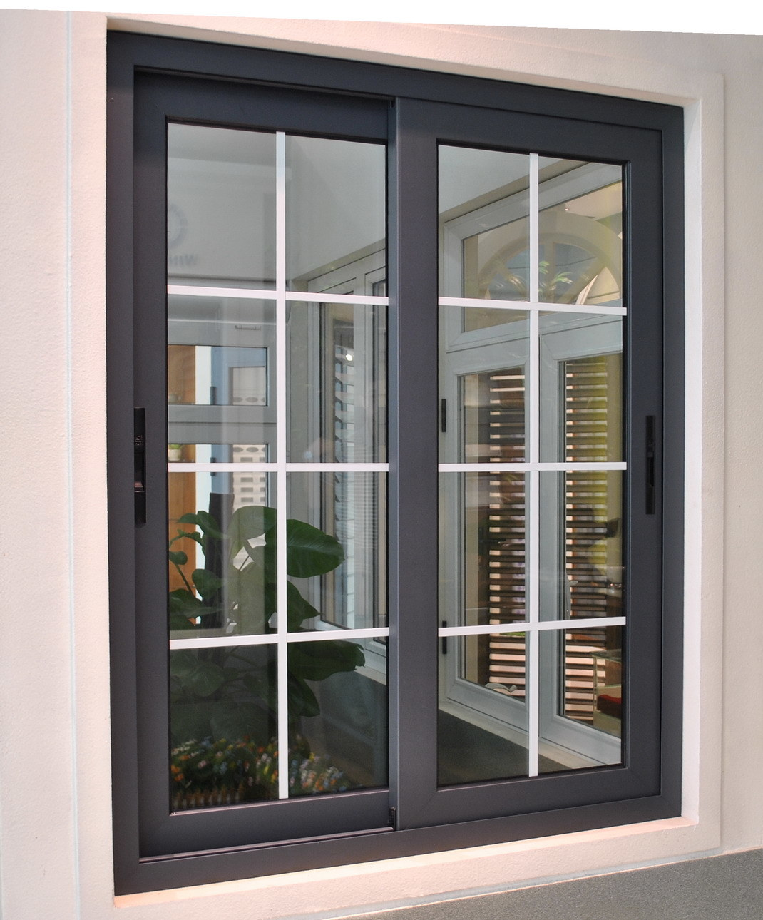Glass window design - 2014 Hot Sale Glass Grill Window Design Aluminum Sliding Window
