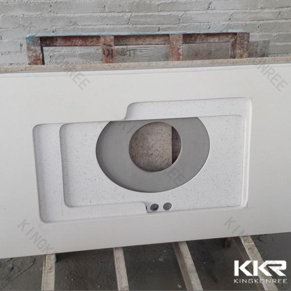 China prefabricate quartz solid surface bathroom vanity Manufactured quartz countertops cost
